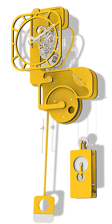 POP UP YELLOW - WALL CLOCK