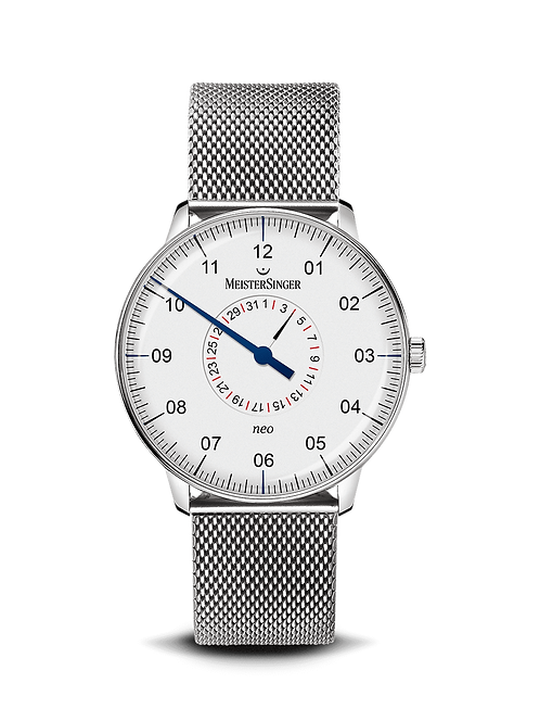 Neo Pointer Date Silver - 36 mm