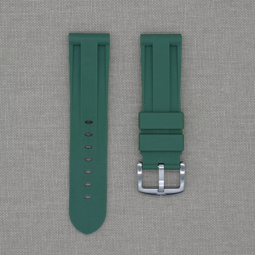 24mm Green Olive Rubber Strap