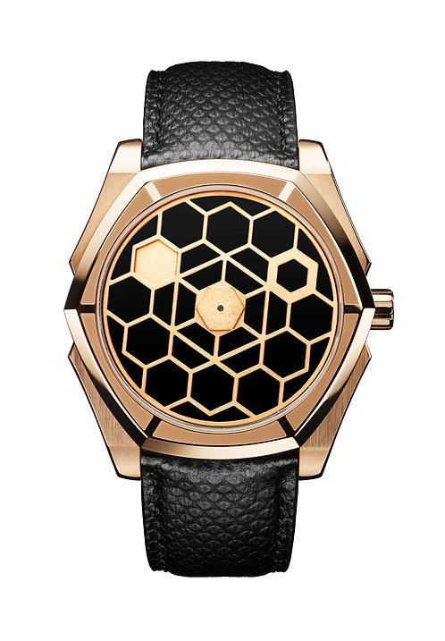 Kagura 44 Onyx Rosé Gold