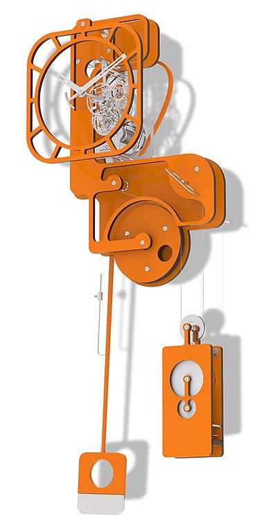 POP UP ORANGE - WALL CLOCK