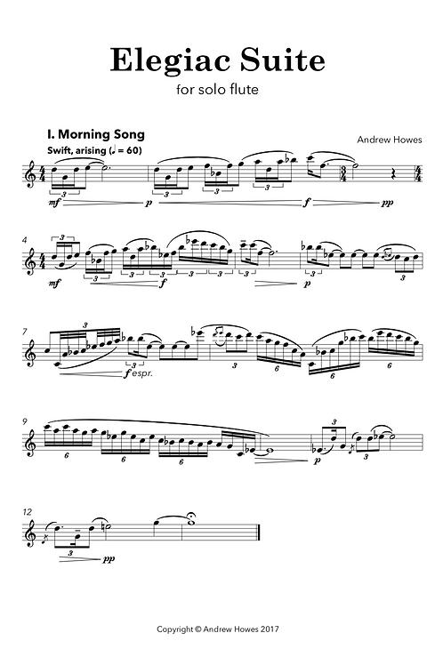 Elegiac Suite | Version for Solo Flute