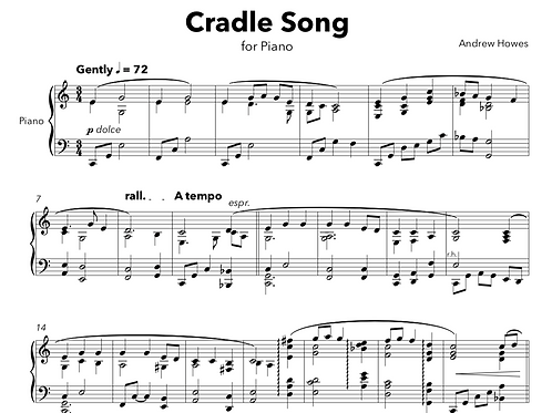 Cradle Song | for Solo Piano