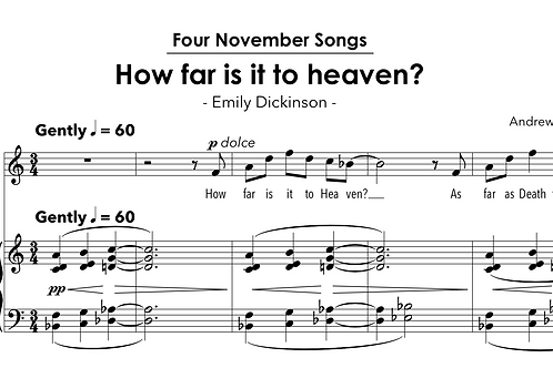November Songs - for voice and piano