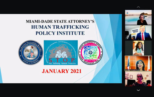 Meeting with the Miami-Dade State Attorney's Human Trafficiking Policy Institute