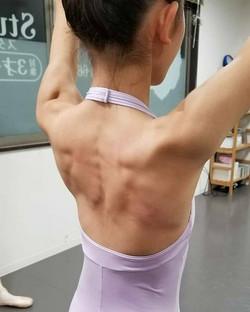 きれいな背中の筋肉