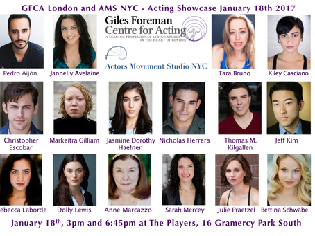 Giles Foreman Centre for Acting's First Ever Showcase in NYC