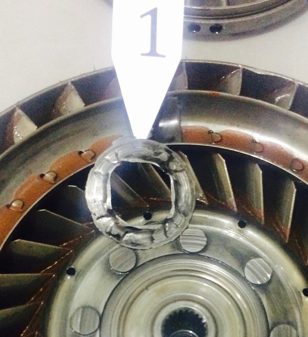 Peças danificadas conversores de torque