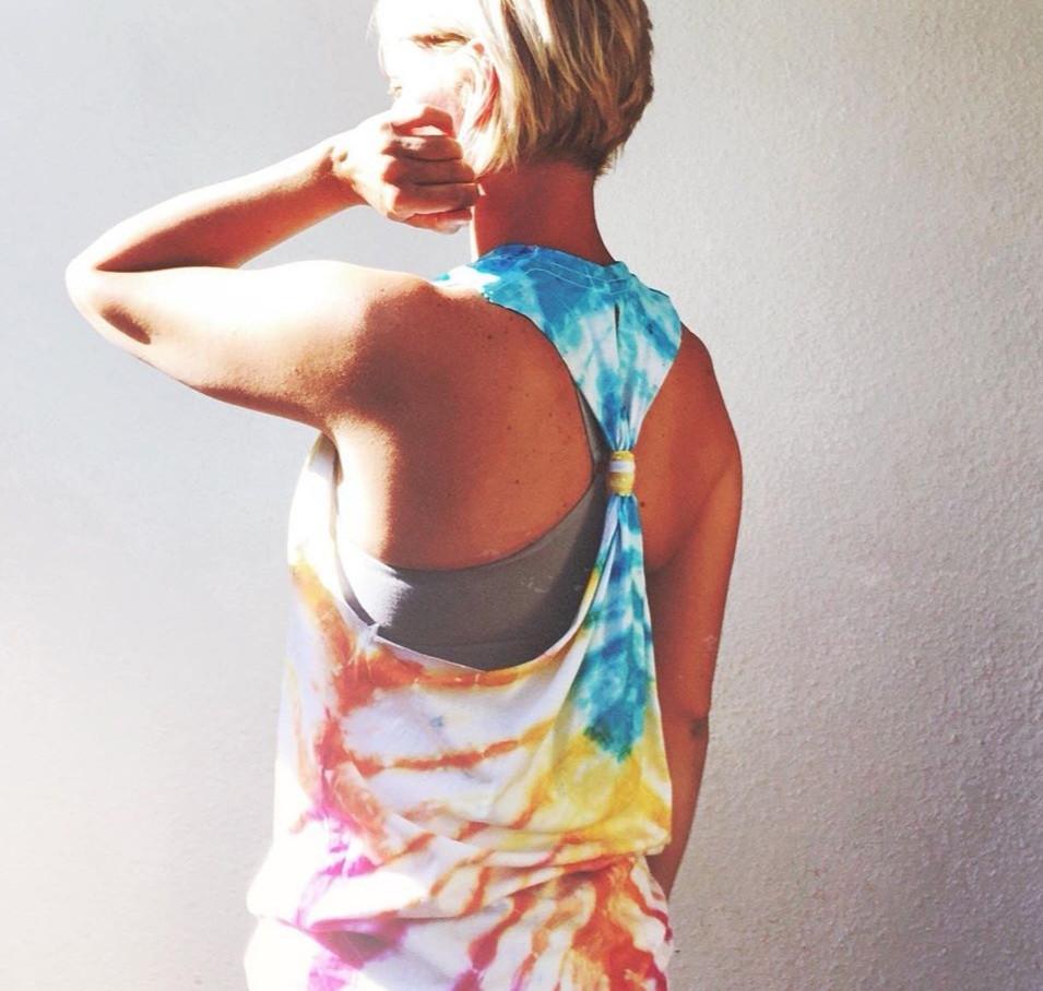 Emily's Tie Dyed Yoga Top