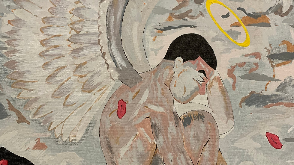 Downed Angel, Painting, Art by 3ric