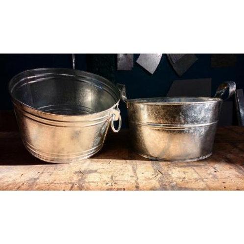 Bacha De Zinc Pileta / Palangana / Frapera / Fuenton Vintage Artesanal