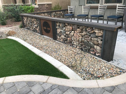 Gabion Wall with Accents