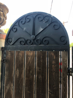 Arch Addition to Gate