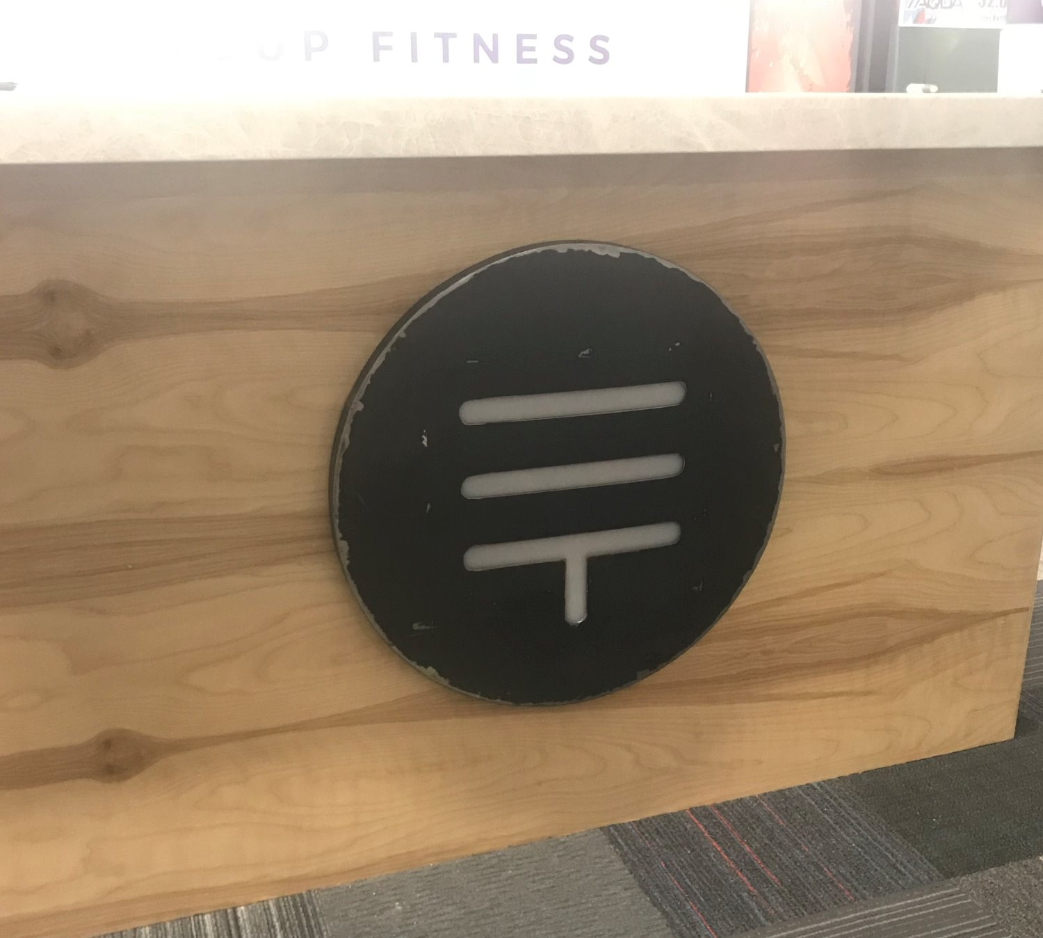 Front Counter Mounted Sign