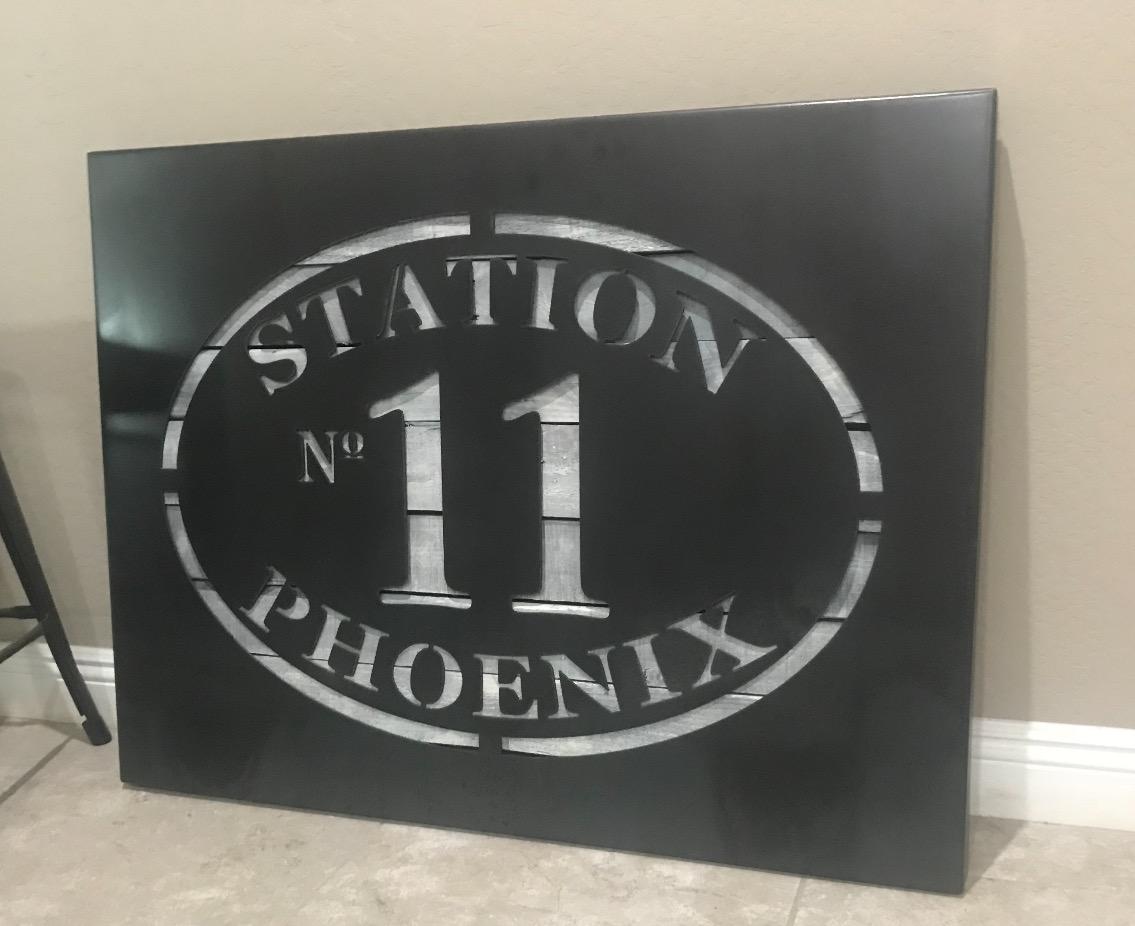 Large Custom Metal & Wood Sign