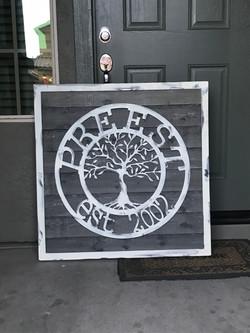 Steel Family Sign