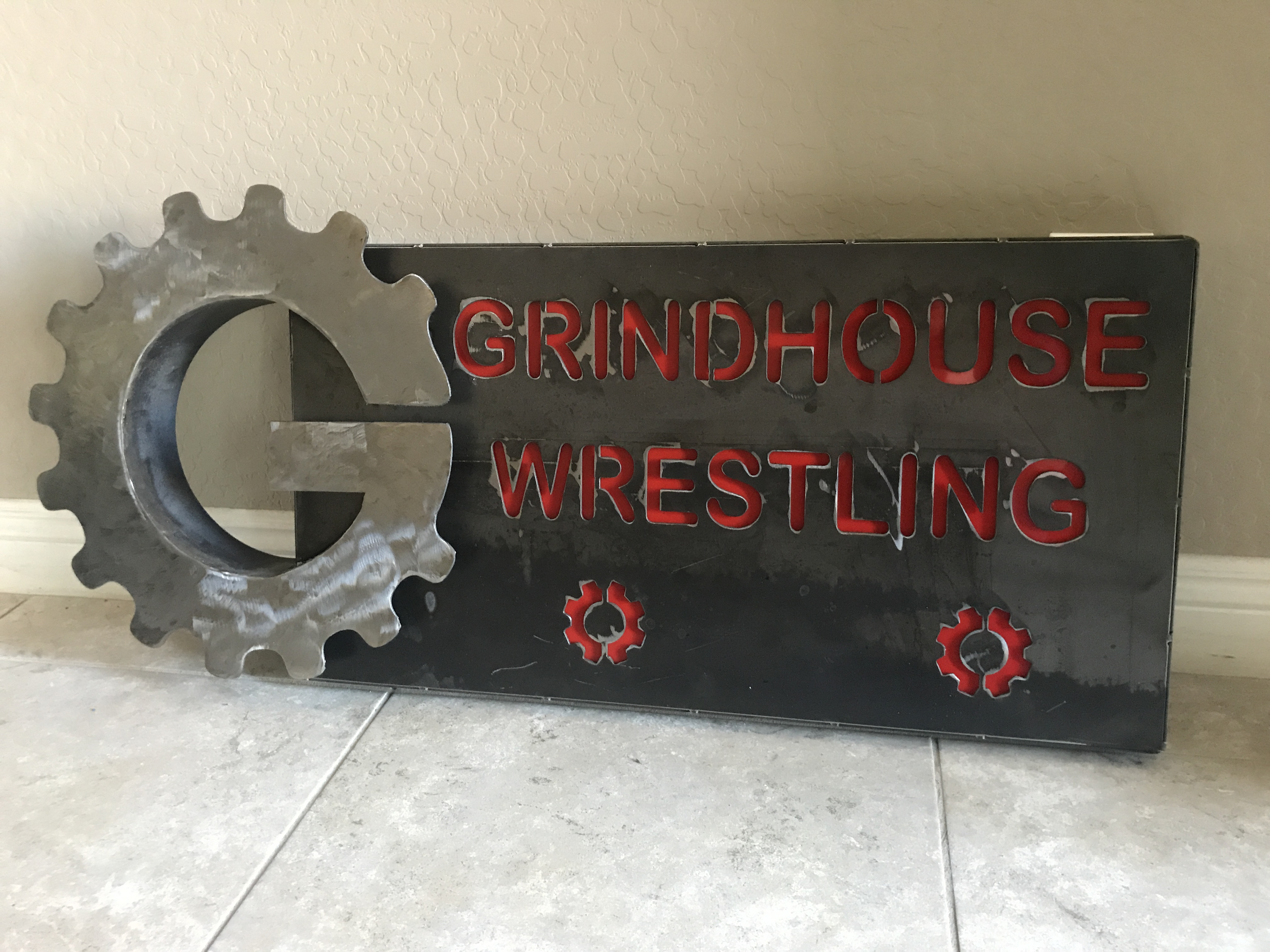 Metal Sign with Dimensional Logo