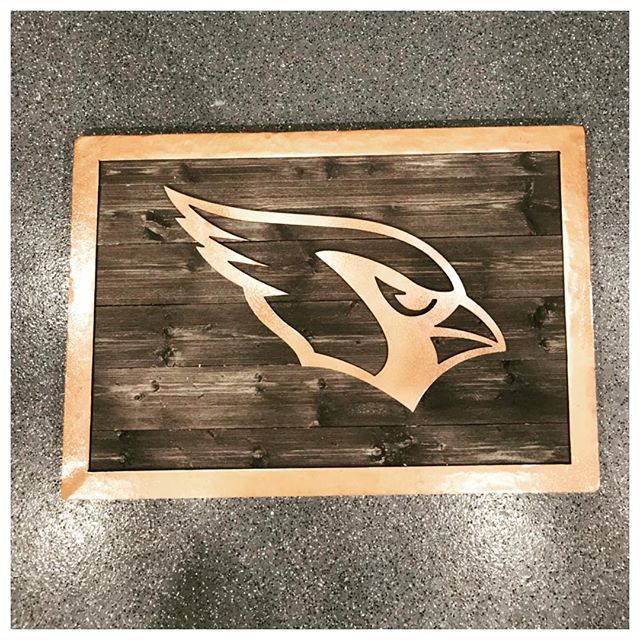 Custom Sign with Wood Back