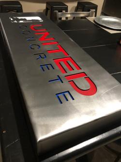 Brushed Steel Sign