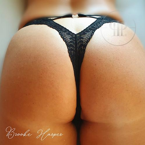 Brooke scented worn love-heart panties