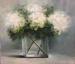 Wilma du Toit - White Hydrangeas