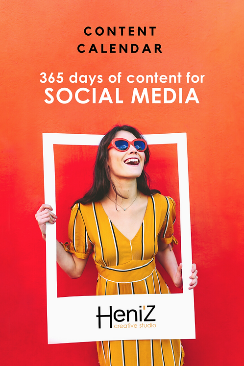 365 Days of Content ideas