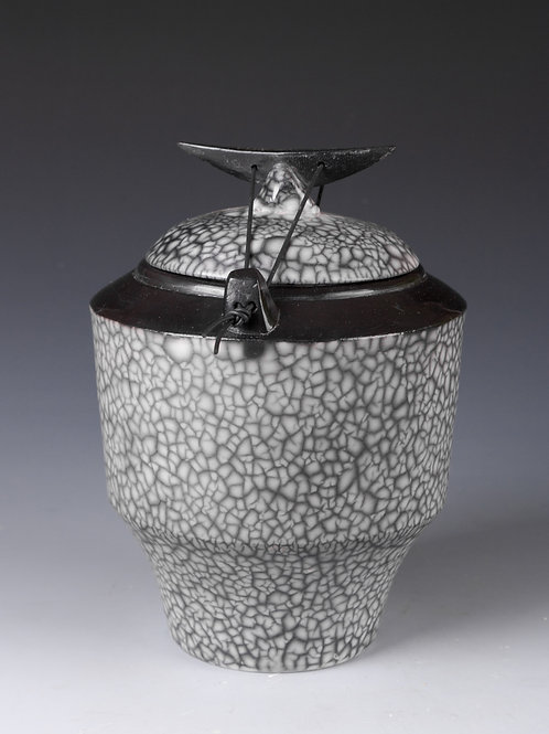 Naked Raku Lidded Jar
