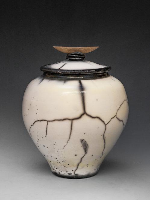 Saggar-Fired lidded jar