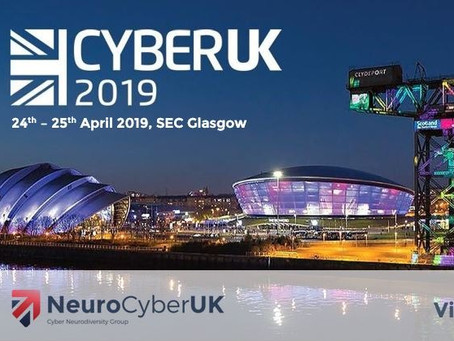 NeuroCyberUK @ CyberUK 2019 in Glasgow