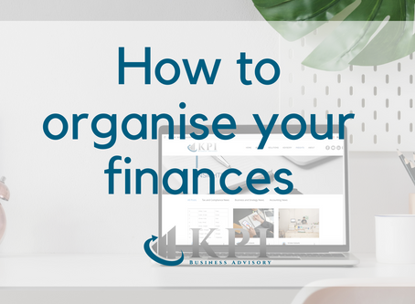 How to organise your finances