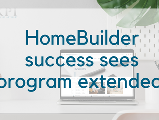 HomeBuilder success sees program extended to March 2021