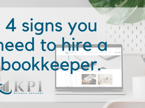 4 signs you need to hire a bookkeeper