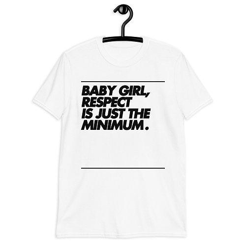 BABY GIRL - BLACK - Short-Sleeve Unisex T-Shirt