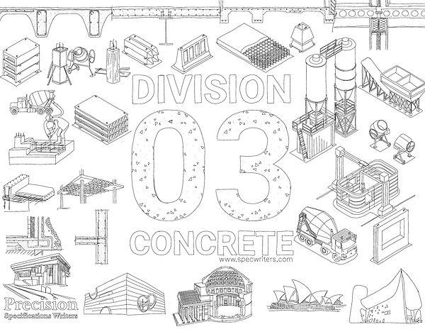 precision spec writers division 03 concr