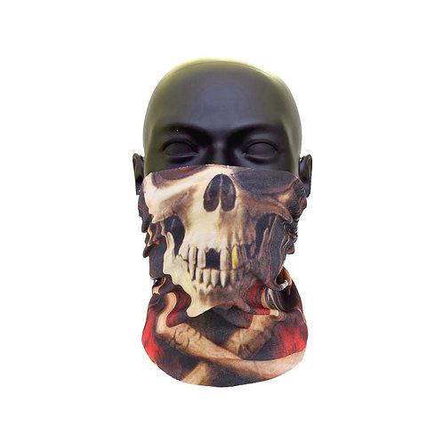 Pirate Skull Beard Face Covering
