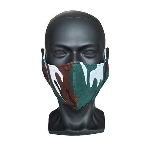 Green Camo Bandana Mask