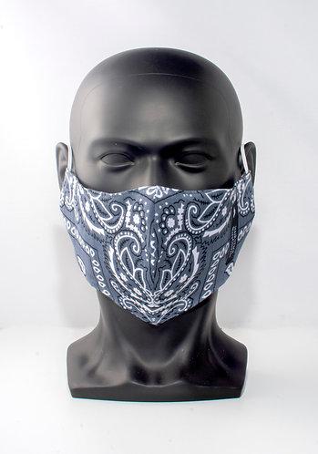 Grey Bandana Mask