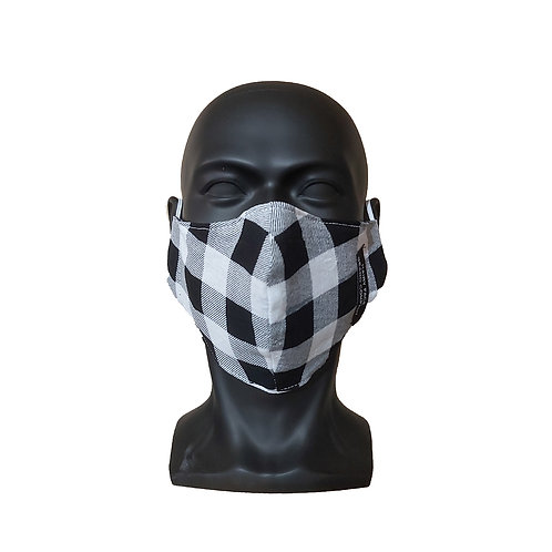 White Plaid Mask