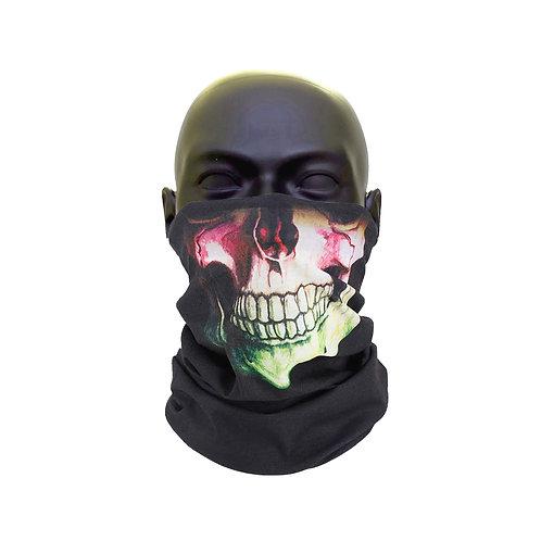 Multi Coloured Skull Beard Face Covering