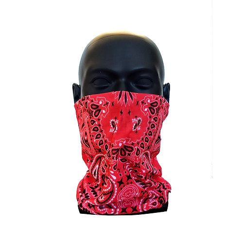 Red Gaiter Face Covering