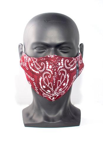 Burgundy Bandana Mask