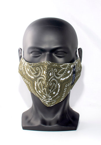 Olive Green Bandana Mask
