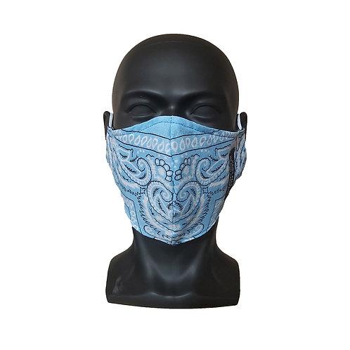 Light Blue Bandana Mask