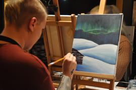 Paint and wine maalaaja