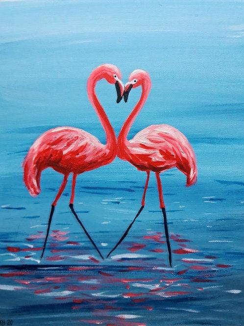 """Flamingot""-maalauspaketti"