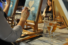 Painting and wine in Tampere