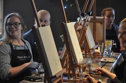 Hauska maalautapahtuma Turussa