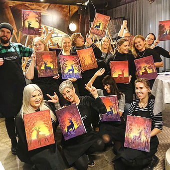 Paintparty Turku - Tuuletus