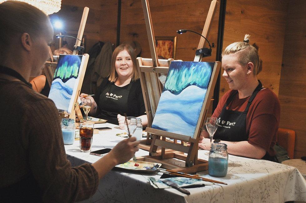 Paint and wine Jyväskylässä