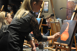 Tislauspannu maalauskurssi Lappeenrannassa